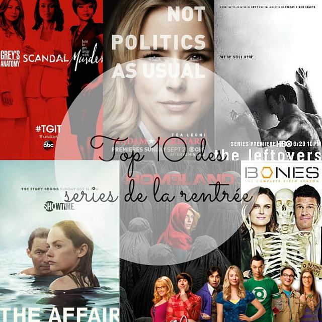 Top 10 Séries rentrée 2015