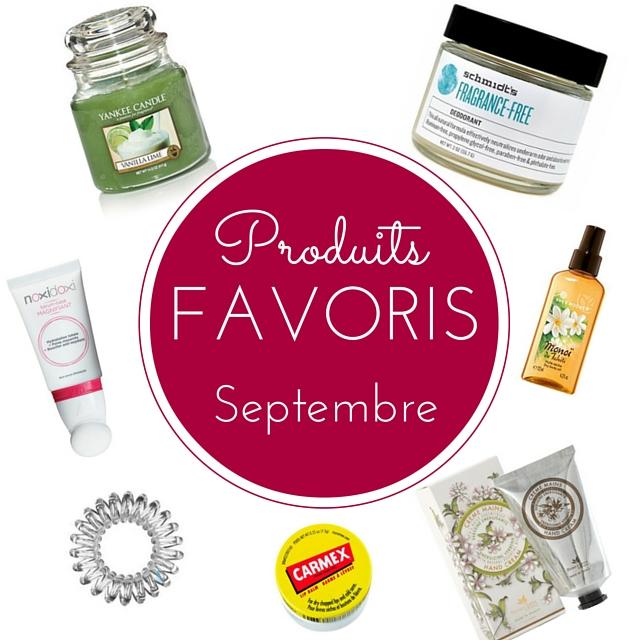 produits favoris septembre