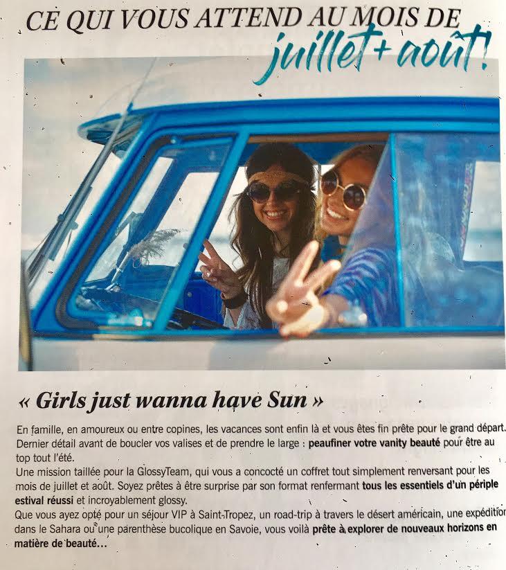 Glossybox de Juillet-Août