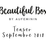 beautiful box de septembre 2018