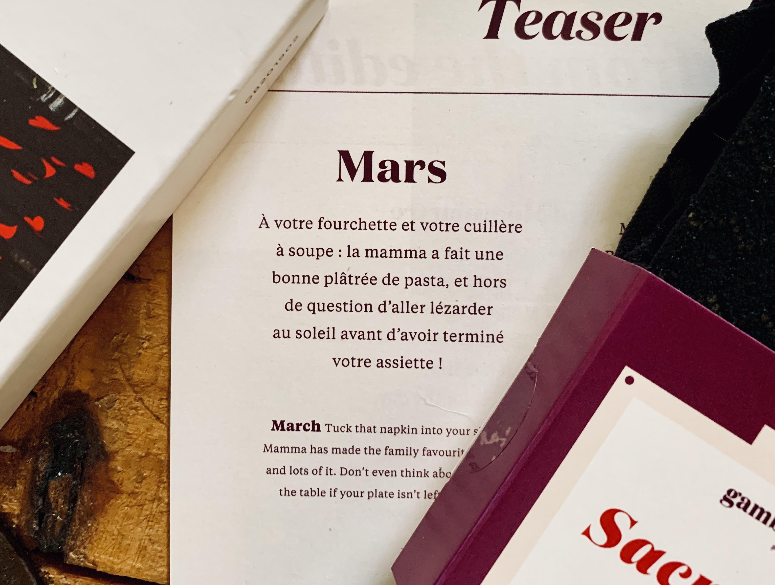 Gambettes Box de Mars 2019