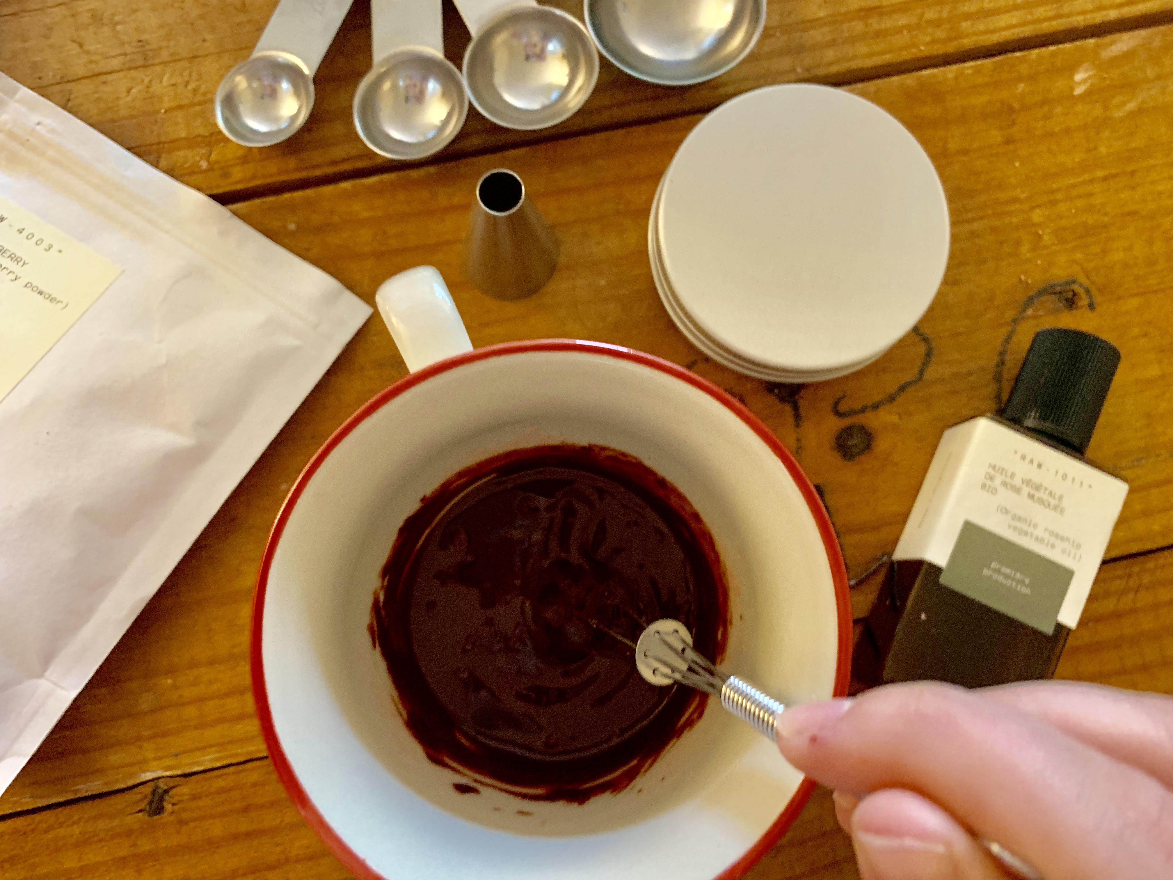 Réalisation de la recette de masque anti-oxydant Typology.