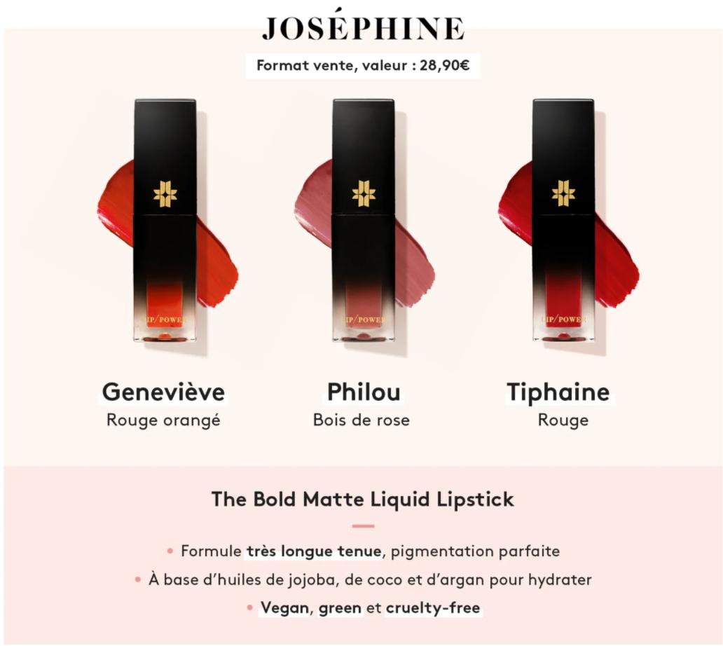 Encre à levres Josephine - Birchbox Mai 2020